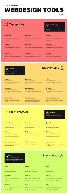 The 100 Best Web Design Tools Ever - Infographic Whether You& a Freelancer, . - The 100 Best Web Design Tools Ever – Infographic Whether You& a Freelancer, … – Anke B - Design Websites, Web Design Trends, Web Design Mobile, Site Web Design, Web Design Tools, Web Design Quotes, Graphisches Design, Website Design Services, Graphic Design Tips
