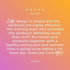 Thank you jcarterpsyd for your review on the App Store! We have 6 more months until the summer hits. Let's get rocking! Find our 15-minute core workout app by clicking on our profile link @core15.co #core15app #fitness #workout #fit #fitnessmotivation #fi