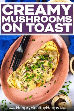 Creamy Mushrooms on Toast is a healthy, quick and easy breakfast or lunch option that feels far more indulgent then it actually is. A delicious vegetarian breakfast recipe, that is easy to make vegan too. Chunky mushrooms in a creamy and cheesy sauce, loaded on a thick slice of sourdough toast with a sprinkling of fresh herbs.