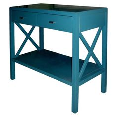 I am so in love with this.  I am so loving Targets new decor.  I wish that I could afford to redecorate my home!! X Console Table - Teal