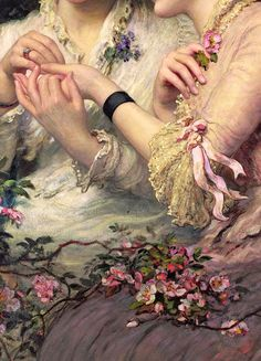 Traveling through history of Art...'A Thorn Amidst Roses', detail, by James Sant, ca.1887.