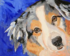 Australian Shepherd Dog Art