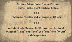 Zungenbrecher (German Tongue Twisters) - learn German,tonguetwisters,german