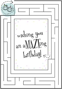 #Birthday #Card Wishing you an amazing birthday - Free #DIY #Printables - 100's to choose from!  Click to Print!
