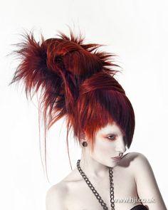 Ceri Cushen Avant Garde Hairdresser of the Year Finalist - i love this.