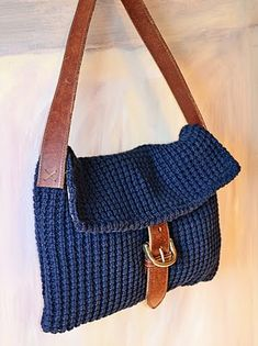 DIY Handbag - made out of a men's sweater and a chunky belt!