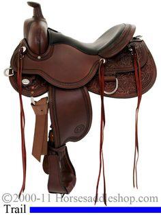 "15"" to 18"" Circle Y Kenny Harlow High Rock Trail Saddle 5622 horse saddles"