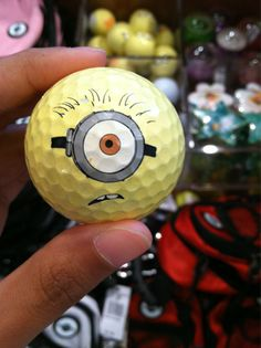 'Despicable Me' minion in #golf #ball form.