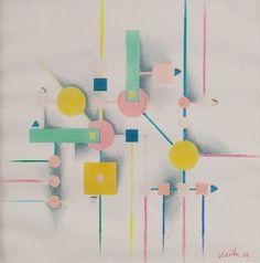 Heinz Kreutz 1923 Abstrake Komposition IN DER ART DES Wassily Kandinsky   eBay