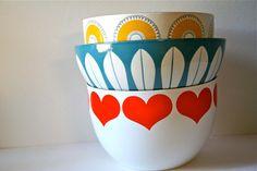 Vintage Cathrineholm Norway Lotus Ware Bowl