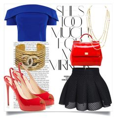 """""""Untitled #215"""" by xxchicfashionxx on Polyvore featuring ASOS, Rika, Dolce&Gabbana, Chanel and Christian Louboutin"""