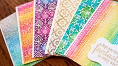 Easy Distress Ink Watercolor Backgrounds (With Iron-Off Embossing)