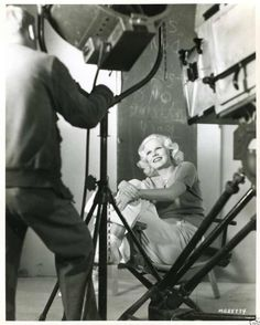 Jean Harlow behind the scenes