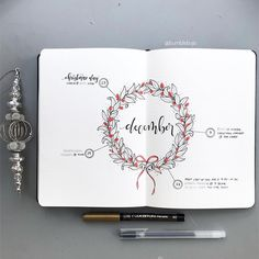Here was my #monthlyspread for December. Continuing on with my festive theme, I decided on a wreath with a circular layout. I'm keeping…