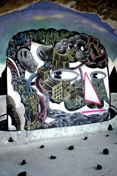 Gilbert Mazout - street art - In situ art festival, Fort d'Aubervilliers (17 mai au 14 juillet 2014)