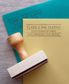 This address stamp was inspired by the art deco movement and some amazing jazz…