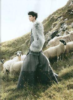 Stella Tennant by David Sims for Vogue November 2010 wearing John Galliano