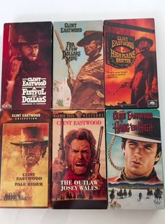 Lot of 6 Clint Eastwood Westerns Hang em High, Pale Rider, ETC (VHS) by MsStreetUrchin on Etsy