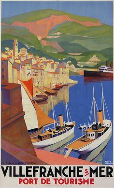 Roger Broders Villefranche Sur Mer 61,5X101 Lucien Serre   Flickr - Photo Sharing!