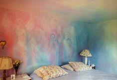 lazure painted bedroom