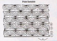 Pochette aux rangs blancs et noirs + grille gratuite - black & white crochet clutch + FREE chart (2/2) (hva)