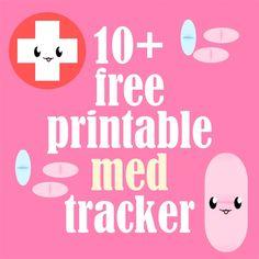 MeinLilaPark – DIY printables and downloads: Free printable med trackers and medical planners - ausdruckbare Medikamenten-Logs - freebie