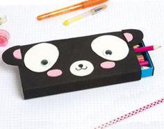 Une trousse Panda à partir d'une boite de Kiri et de papier mousse