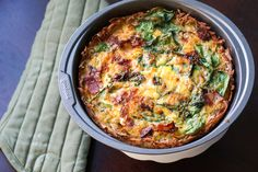 Grain Free Bacon Spinach Quiche