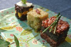 Birthday dog recipe: red thai rice, nori and the greenest grass ever! happy birthday my love!