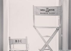 """Blue Ivy Carter Gets Her Own Chair for """"The Mrs. Carter Show World Tour"""""""