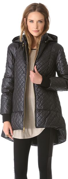 I know it's spring somewhere, but, we are still wearing our puffer coats in Chicago. alice + oliva Puffer Jacket