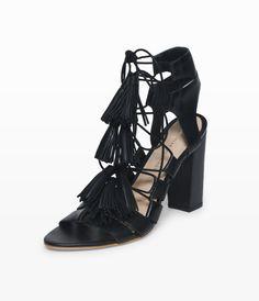 Black Tassel Heels