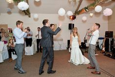 Surprise rap battle for the groom -   Image by Ali Lovegrove Photography - A wedding at Halstead House with a pink and grey colour scheme and the groom wearing Ted Baker with photography by Ali Lovegrove Photography