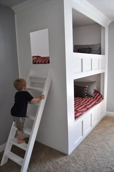 I would love these for the big kids!  Great built in bunk beds from I am Momma, Hear Me Roar...wow so cool!