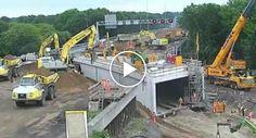 Túnel Sob Autoestrada é Construído Em Apenas 2 Dias!