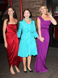 GOOD DEEDS - Pretty in purple, Jenna, along with sister Barbara and mother Laura, arrive at Glamour's Women of Year Awards in July 2011, where the trio received The Generations Award for their work as advocates on behalf of women and children.