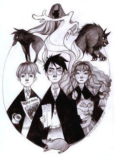 Harry Potter and the Prisoner of Azkaban, Original Pencil Drawing Illustration