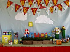 Nintendo Mario bros. birthday Party.