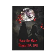 Dark Romantic Save the Date