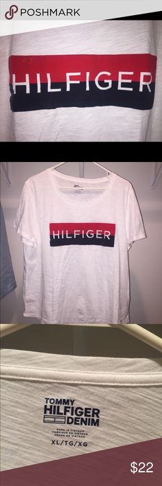 55234ed9fda Tommy Hilfiger women s XL logo t-shirt Never worn