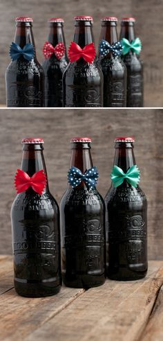 This is adorable! Bow Tie [Root] Beer -- what a great and simple gift idea for Dad this Father's Day
