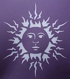Plantilla de sol por kraftkutz en Etsy
