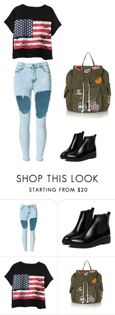 """""""Washington"""" by imonyyy ❤ liked on Polyvore featuring WithChic, Chicnova Fashion and Topshop"""