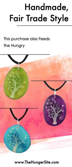 The unity of all living things, magnificently symbolized in the mystical tree of life. Our tagua necklace is a sublime piece, available in a wealth of wonderful colors. Get it Here: www.Shop2Give.us/TreeOfLifeTagua