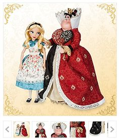 Alice and The Queen of Hearts Doll Set - Alice in Wonderland - Disney Fairytale Designer Collection *** You can find more details by visiting the image link. Disney Stores, Disney Princess Dolls, Disney Dolls, Disney Collector Dolls, Disney Babies, Barbie Dolls, Alice In Wonderland Doll, Wonderland Party, Disney Animator Doll