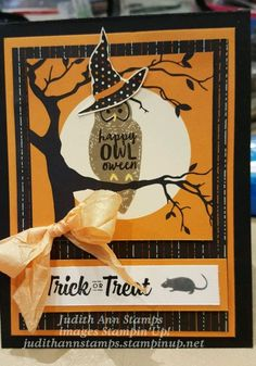 Stampin' Up Spooky Cat Stamp Set.