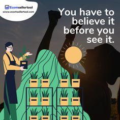 You have to believe it before you see it.  Reality is what you create. Imagination is what helps you bring the unrealistic to reality. So whenever you are about to start creating something, you make sure you believe in it, before you see it.  Visit us at www.ecomsellertool.com  Follow us @ecomsellertool Follow us @ecomsellertool - - - - - - - - - #amazon #amazonprime #amazonfbatips #amazonsellers #amazonfbalife #amazonfbaseller #amazonfbaexpert #amazonsellersofinstagram #amazonbusiness Warehouse Management, Amazon Advertising, Amazon Fulfillment Center, Supply Chain Management, Amazon Seller, Amazon Fba, Software Development, Case Study, Cool Words