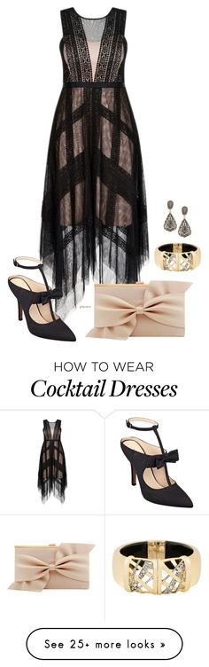 """""""Retro glam- plus size"""" by gchamama on Polyvore featuring Nine West, Coast, Heidi Daus and Alexis Bittar"""