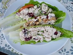 low-carb and guilt-free Healthy Chicken Salad Lettuce Wraps! | Perfect Size Nutrition Visit www.perfectsizenutrition.com These two ladies are registered and licensed dietitians!