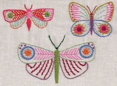 Embroidered Butterflies and France!